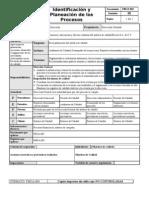 Identificación y Planeación de los procesos Revisión de la dirección