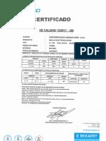 Certificado de Calidad - Malla Prodac 106