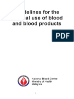 Guidelines for the Rational Use of Blood Blood Products
