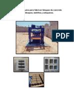 Pequeña Máquina Para Fabricar Bloques de Concreto Para Bloques
