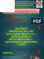Muestreo Pirometalurgia de Aleaciones Metálicas – Aplicaciones En