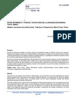 ENTRE MOVIMIENTO Y PARTIDO TRAYECTORIA DE LA ORGANIZACIÓN BARRIAL Tupac Amaru.pdf