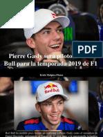 Erick Malpica Flores - Pierre Gasly Será Piloto de Red Bull Para La Temporada 2019 de F1