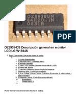 OZ9938-DS Descripciòn General en Monitor LCD LG W1934S