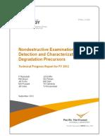 2012-09 NDE Degradation and Characterizaton of Degradation Precursors - Ramuhalli [PNNL-21692]
