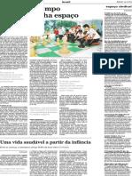 EDUCAÇÃO INTEGRAL - REPORTAGEM JORNAL