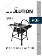 User Manual - Evolution Fury 5S Table Saw