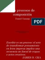 Los procesos de composición