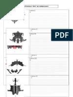 protocolo tabulación Rorschach