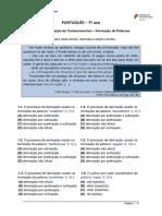 Ficha de Trabalho Processos de Formação de Palavras-7º ano