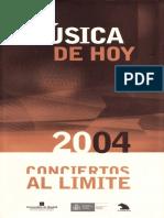 Minguet (2004) - Giacinto Scelsi. Los Cantos Del Capricornio. Notas Al Programa Auditorio Nacional de Música de Madrid