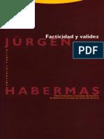HABERMAS. Facticidad y Validez