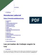 Jornadas laboral Honduras