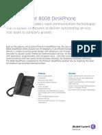 8008 Deskphone Datasheet En
