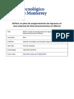 Definir un plan de aseguramiento de ingresos en una empresa de telecomunicaciones en México
