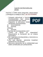 Primera evaluación de Biomoléculas
