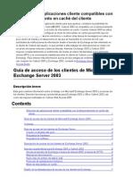 Guía de acceso de los clientes de Microsoft Exchange Server 2003