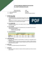 Modelo de Informe de Las Elecciones Del Municipio Escolar 2018