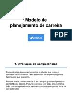 Modelo Planejamento de Carreira Contaazul