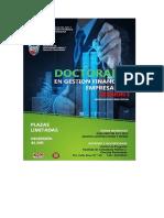 Afiche Doctorado Gestion Financiera Empresarial