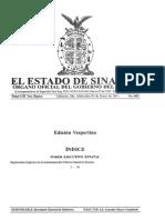 REGLAMENTO ORGANICO DE LA ADMINISTRACION PUBLICA DEL ESTADO DE SINALOA.pdf