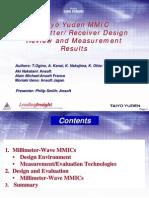Enabling 60GHz MMIC Design