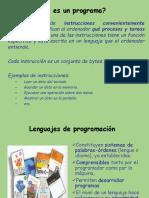 Presentacion Programacion y Lenguajes