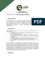 Programa Procesos Administrativos 1