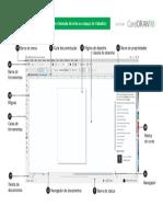 Interface Coreldraw x8