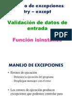 053 Try - Except - Validación de Datos - Isinstance