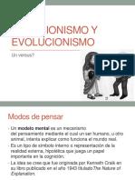 Creacionismo y Evolucionismo