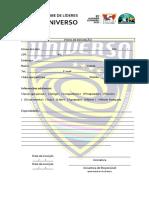 Ficha de Inscrição Clube de Líderes Universo 2019 2