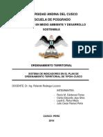 Sistema de Indicadores en El Plan de Ordenamiento Territorial de Tipon