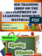 Session 1 Learning Resource Materials Sir Capusi