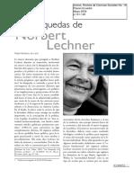 entrevista a norbert lechner