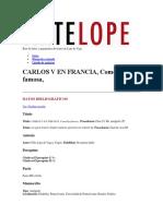 Carlos v en Francia Base de Datos