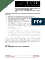 Presentacion de Trabajos Topograficos y Arquitectonicos-Tof