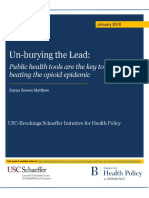 Un-burying the Lead-Public Health Tools Are the Key to Beating the Opioid Epidemic (Brookings Institute)