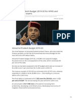 Gosarkari.com-Himachal Pradesh Budget 2019-20 for HPAS and Other HP Govt Exams