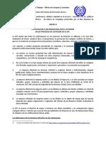 Anexo III Certificacion a Ser Presentada Por El Licitador en Los Procesos de Lici...