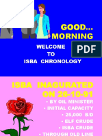 Isba Chronology