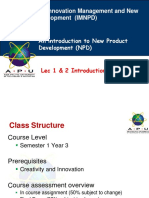 Lecture 12-Introduction to New Product Development (1)