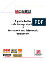 Guide to Safe Transportion of Formwork and Falsework
