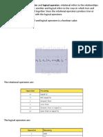 2.6. Relational and Logical Operators