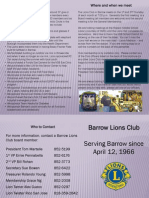 Lions Barrow Brochure
