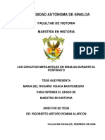 Tesis Los Circuitos Mercantiles en Sinaloa Durante El Porfir