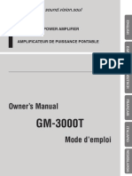 Gm-3000t Manual en Fr de Nl It Es
