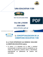Cobertura Educativa y EBI