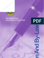 Standard Club Constitution and Bylaws