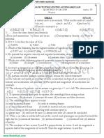 11th Physics - Unit 1,2 Model Question Paper - TamilNadu TN State Board English Medium - Brainkart.com